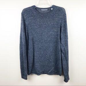 Vince men's sweater linen crewneck medium gray